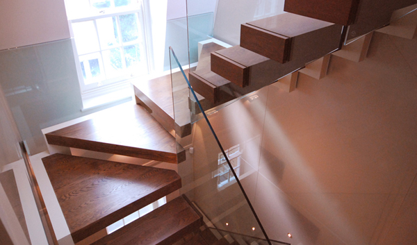 "Cantilevered Stairs ""self supported without fixings to side walls"""