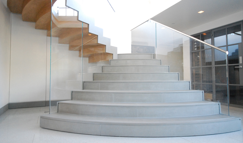 Feature Curve Stairs_Works Ltd_Soho Loft, Wardour Street, London W1