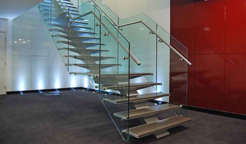 Centre spine feature stairs_Arcadiam Associates Ltd_Greater London House, Hampstead Road, London